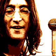 Musicans Prints - A Myth of Peace Series 1 Lennon2 Print by Joel Loftus