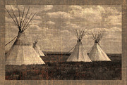 Tipis Posters - A Nations Heritage Poster by Fran Riley