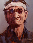 Native Americans Originals - A Navajo Man by David Simons