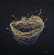 Multicolor Paintings - A Nest by Songmi Park