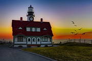 Cape Elizabeth Framed Prints - A New Day At Portland Head Light Framed Print by Susan Candelario