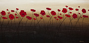 Poppies Prints - A New Day Print by Carmen Guedez