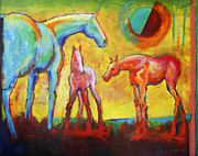Foal Prints - A New Day with Horses Print by Carol Jo Smidt