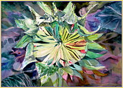 Spiritual Art Drawings Prints - A New Sun Flower Print by Mindy Newman
