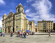 Cathedral Of The Assumption Prints - A New Year Dawns at Oaxca Cathedral Print by Mark E Tisdale