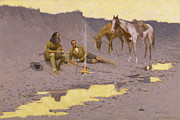 Western Art Digital Art - A New Year on the Cimarron by Fredrick Remington