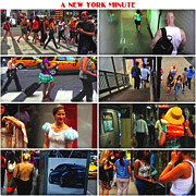 Nyc Digital Art - A New York Minute by Nishanth Gopinathan