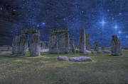 Druidry Posters - A Night At Stonehenge Poster by Darren Wilkes