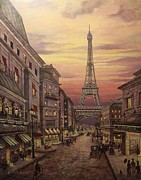 Vintage Paris Originals - A Night In Paris by Martin Lacasse