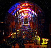 Fremont Street Framed Prints - A Night on Fremont Street Framed Print by David Lee Thompson