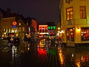 Get Together Framed Prints - A Night Out in Bruges Framed Print by Mountain Dreams