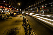 Sven Brogren - A night street scene in...