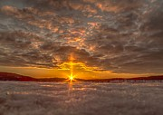 A Norwegian Sunset Print by Rose-Maries Pictures