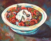 Gumbo Paintings - A Notable Gumbo  by Lisa Tygier Diamond
