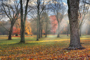 Dreamy Autumn Landscape Framed Prints - A November Morning Framed Print by Bill  Wakeley