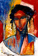African-american Paintings - A Nubian Lady by William Tolliver