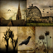 Aged Art Collage Prints - A Page  Print by Gothicolors And Crows