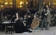 A Parisian Cafe Print by Ilya Efimovich Repin