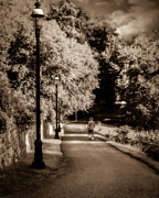 Streetlights Prints - A Path Well Traveled  Print by Bob Orsillo