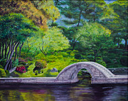 Japan Paintings - A Peaceful Place in Hiroshima by Jo-Anne Gazo-McKim