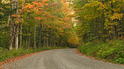 Autumn In The Country Prints - A Peaceful Road Print by Charles Kozierok