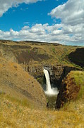 A Peak Of Palouse Falls Print by Jeff  Swan