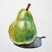 Pear Art Metal Prints - A Pear Metal Print by Irina Sztukowski