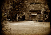 Log Cabin Mixed Media Prints - A Piece of History Print by Wendy Davis