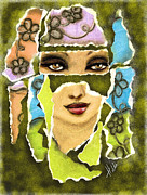 Faces Pastels - A piece of you by Hilda Lechuga