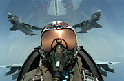A Pilot Takes A Self Portrait Print by Stocktrek Images
