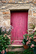 Fieldstone Photos - A Pink Door by Olivier Le Queinec