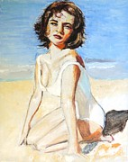 Elizabeth Taylor Paintings - A Place in the Sun by Judy Kay