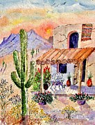Spanish House Paintings - A Place Of My Own by Marilyn Smith