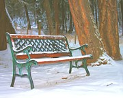Benches Photo Originals - A place to think by Roland Stanke