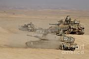 Battletank Prints - A Platoon Of Israel Defense Force Print by Ofer Zidon