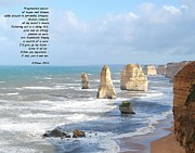 12 Apostles Framed Prints - A Poem from the Sea Framed Print by Jill Baum