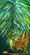 Fronds Paintings - A Poppin Pineapple by Eloise Schneider