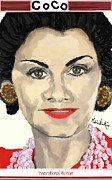Buy Framed Prints Digital Art Framed Prints - A Portrait - Coco Chanel Framed Print by Melissa Nankervis