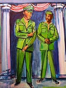 Wwi Paintings - A Portrait of Daddy Soldier Veterans Day by Ecinja Art