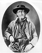 Jim Bridger Framed Prints - A Portrait of Jim Bridger Framed Print by Underwood Archives