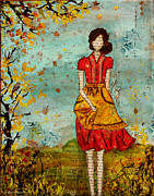 Folkart Prints - A Prairie Autumn Day Print by Janelle Nichol