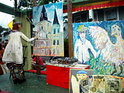 New Orleans Oil Photos - A Puppet Paints in New Orleans by Mary Capriole