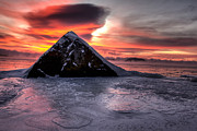 Winter Photos Prints - A Pyramid  Print by Jakub Sisak