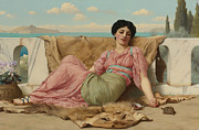 Old Man Digital Art - A Quiet Pet by John Williams Godward
