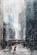 Rainy Day Mixed Media - A Rainy Day In The City by Ingrid  Albrecht