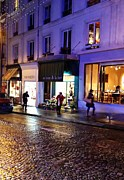 Evening Scenes Photos - A Rainy Evening Walk in Paris by Jan Moore