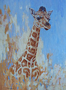 Saheed Framed Prints - A Rare Giraffe Framed Print by Margaret Saheed