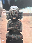 Mayan Paintings - A religious Mayan figure by Yucatan artist