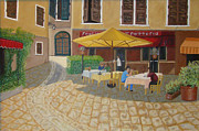 Waiter Originals - A Restaurant in a Tuscan Square by Stevie Stefano