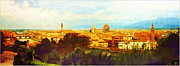 A Return To Firenze - Florence Italy Print by Douglas MooreZart